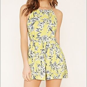 NWOT Forever 21 Contemporary Floral Romper